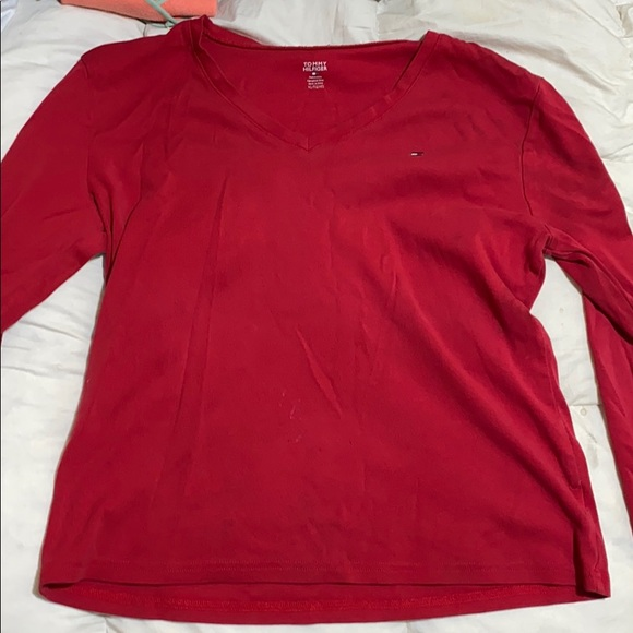 Tommy Hilfiger Tops - Tommy Hilfiger Red Long Sleeve Shirt